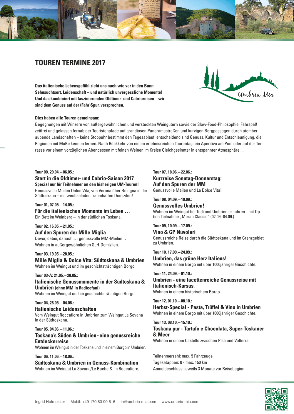 Tourenüebersicht 2017