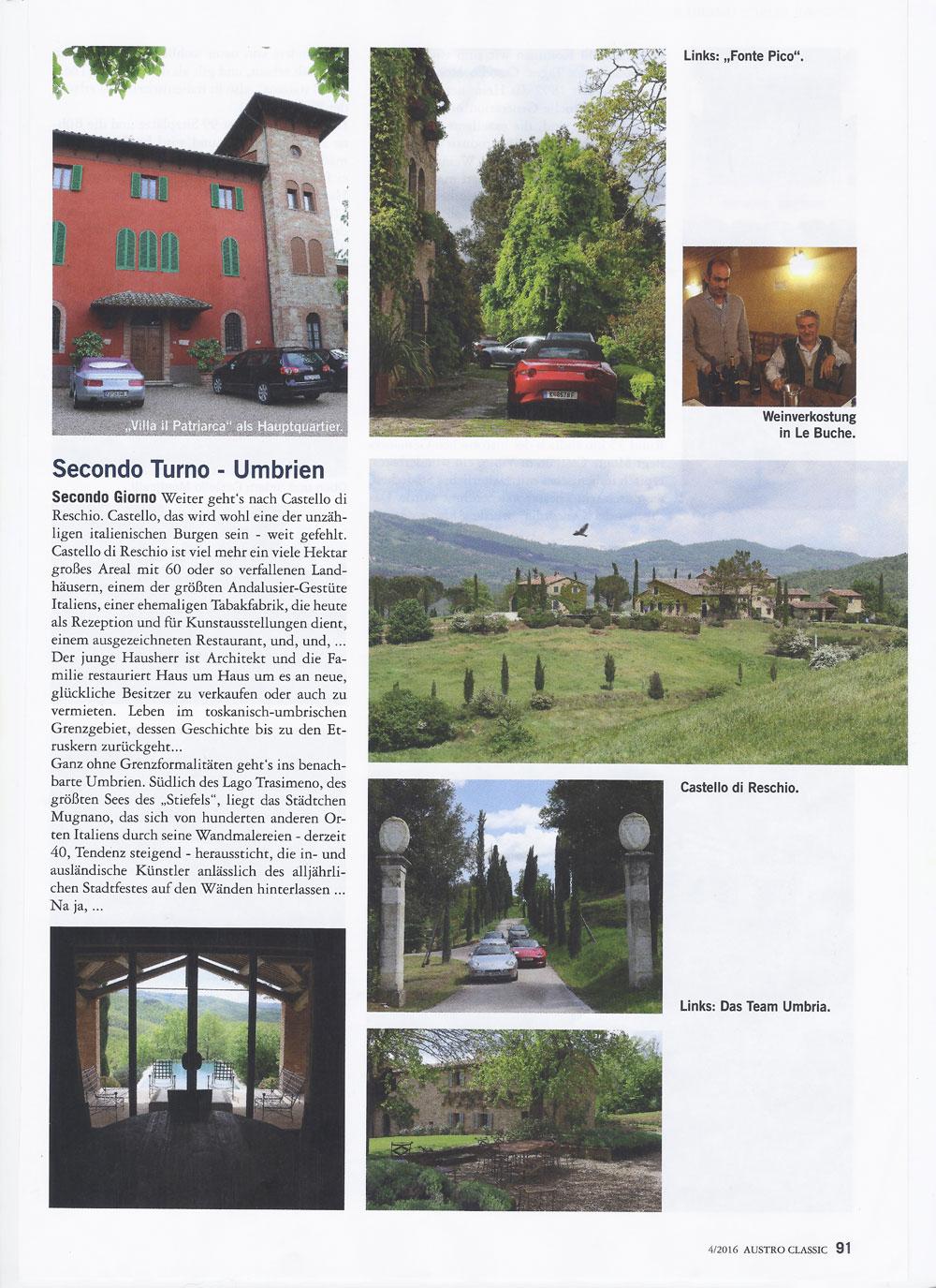 Austro Classic Umbrien Reise mit Umbria mia