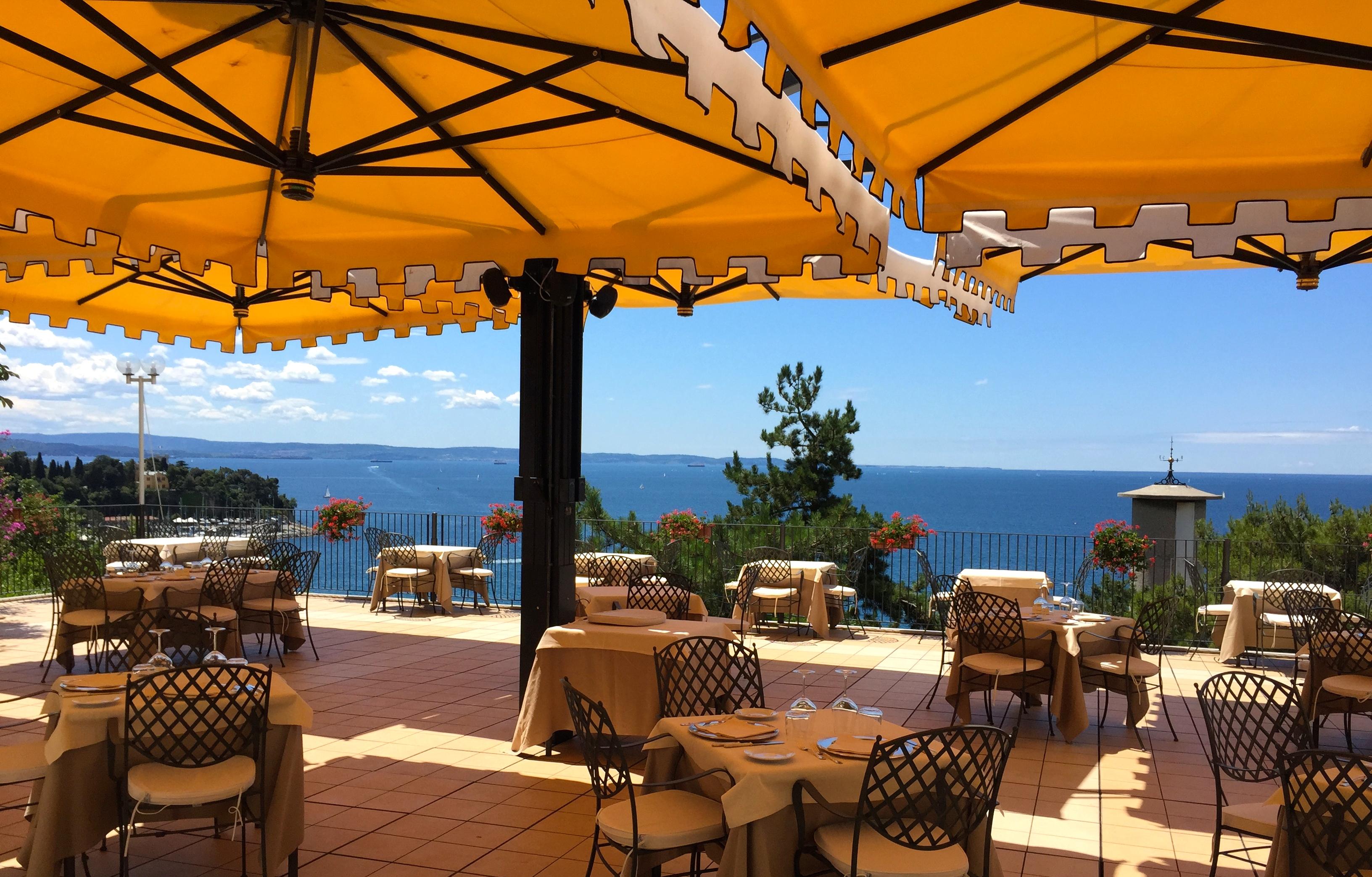 Hotel Riviera am Meer bei Triest im Friaul.