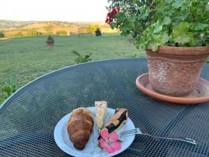 Tenuta Fattoria Vecchia -Frühstück mit Aussicht