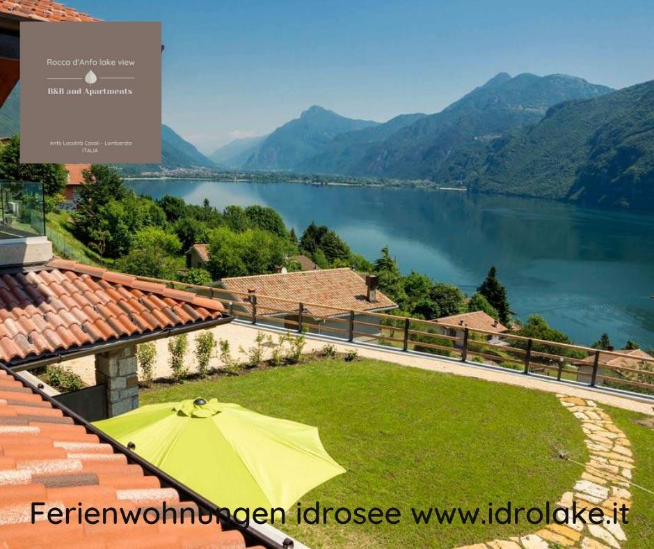 Rocca d'Anfo B&B – mit Blick auf den Lago d'Idro